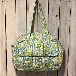 Vera Bradley English Meadow Diaper Travel Bag EUC